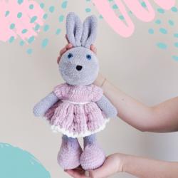 Pluszowy królik XL różowy